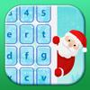 Christmas Keyboard Theme Colorful Holiday Emoji