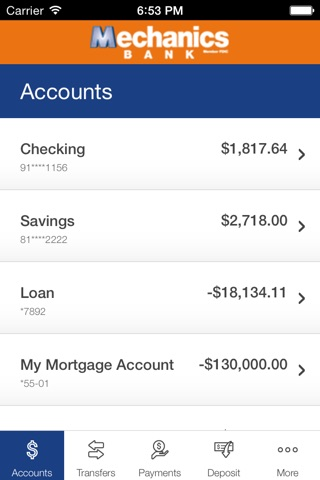 Mechanics Bank-Mobile Banking screenshot 3