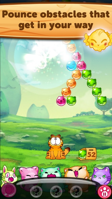 Kitty Pawp: Free Bubble Shooter Featuring Garfield Screenshot
