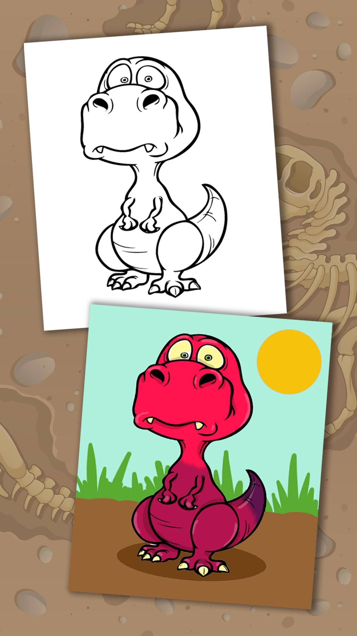 恐龙动物世界侏罗纪公园儿童画画游戏(3-6岁宝宝涂手涂色早教益智软件