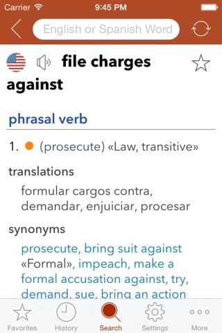 Spanish Legal Dictionary screenshot 2