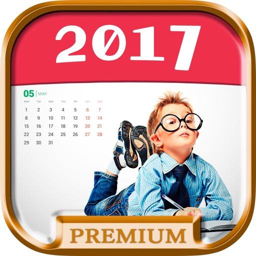 photo calendrier 2016 cr er calendrier personnalis avec cadres photo premium par. Black Bedroom Furniture Sets. Home Design Ideas