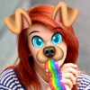 Snap Doggy Face Stickers - Photo Swap to Disguise Yourself with Smiling Cartoon Emoji