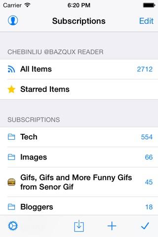 Feeddler RSS Reader Pro 2 screenshot 1