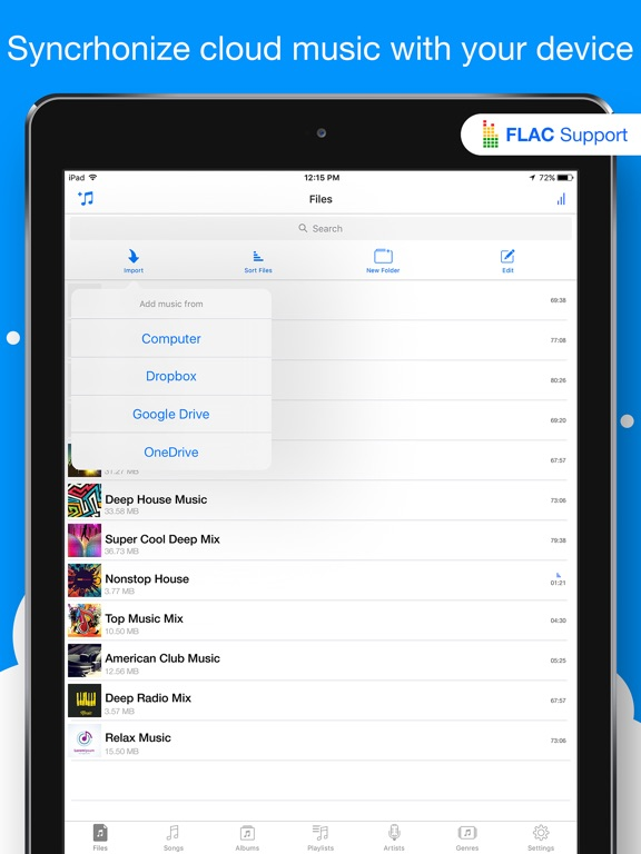 Musicloud Pro - MP3 & FLAC Music Player for Clouds