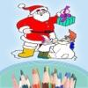 Libro da colorare per i bambini - Natale e Babbo Natale - Xmas tree
