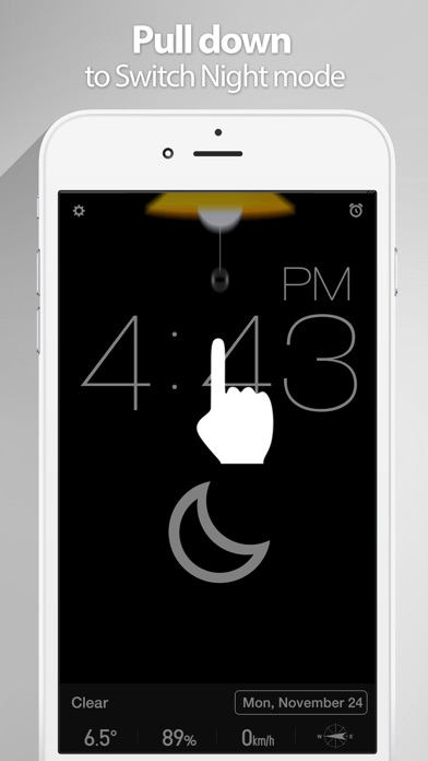 Red Clock - The Minimal Alarm Clock Скриншоты5