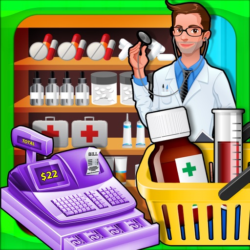 Supermarket Drugstore Cashier - Cash register Sim iOS App