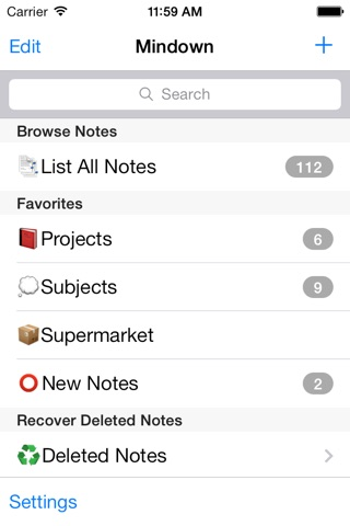 Mindown - The best for Notes, Todos and Lists screenshot 1