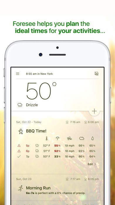 Foresee: Your Personal Activity Forecast Screenshot