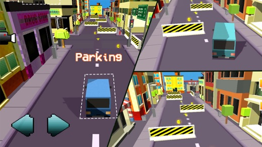 Blocky Car Parking & Driving Sim Simulator 2016 Screenshot