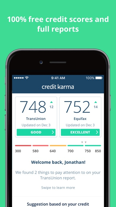 Credit karma on the app store iphone screenshot 1 ccuart Image collections