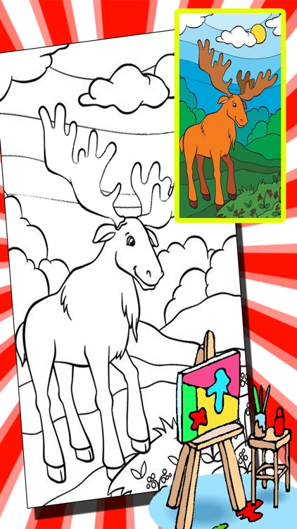 Funny Wonder Zoo Animal Coloring Book Game Edition