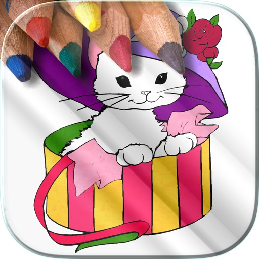 Coloring Book For Girls–Free Games – Color Therapy Icon