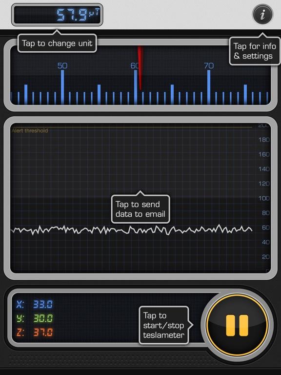 Screenshot #5 pour Teslameter 11 - Metal Detector