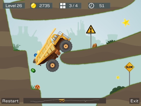 【物理益智】狂野重卡 - 逼真的矿车运输模拟竞速