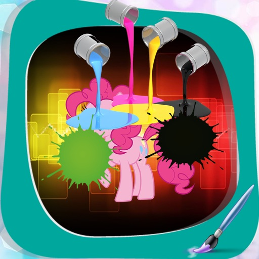 Book colouring For little pony Version iOS App