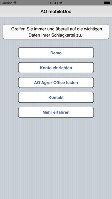 Screenshot von AO mobileDoc1