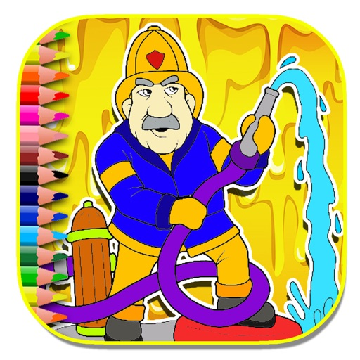 Kids Occupation Fireman For Coloring Page Game iOS App