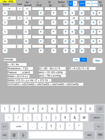 Mol Calculator Lite screenshot 2