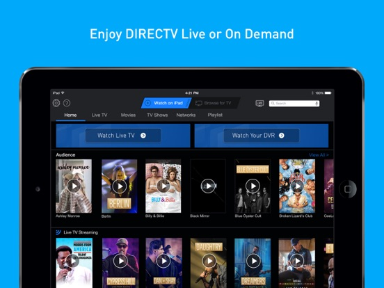 Screenshot #1 for DIRECTV App for iPad