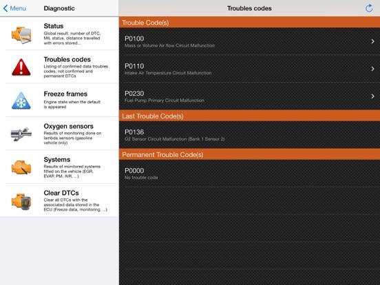 EOBD Facile - Car Diagnostic Screenshots