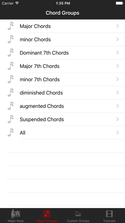 Piano Chord Key By Matt Whitehead