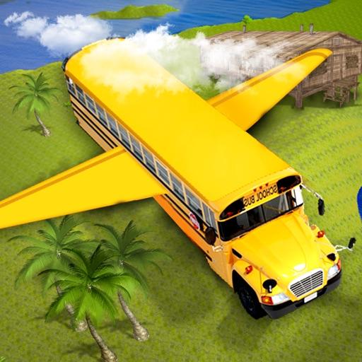 Flying Stunt Bus Driver : Auto Pilot Simulator iOS App