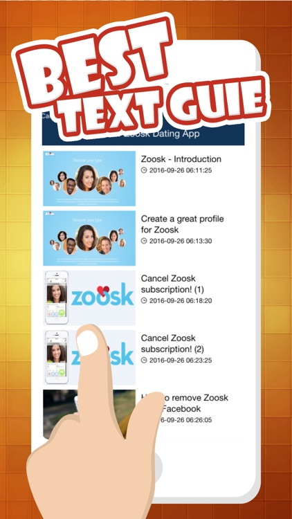 deactivate zoosk account from app