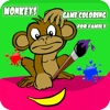 Monkeys Game Coloring For Family