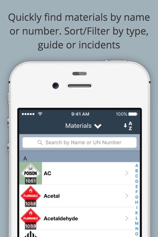 HazMat Reference and Emergency Response Guide screenshot 1