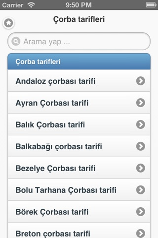 1500 Yemek Tarifi screenshot 2
