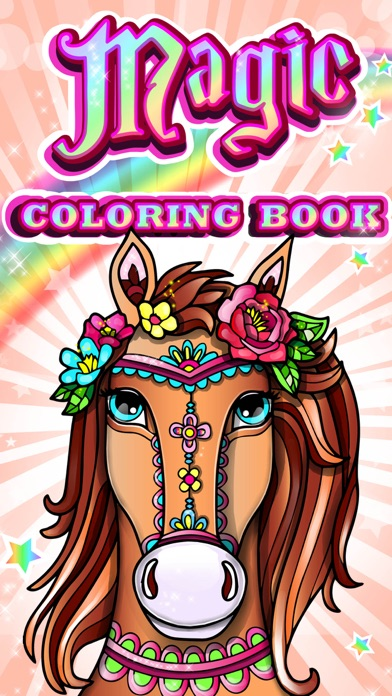 Magic pony coloring book for adults my little art app Coloring book for adults apk