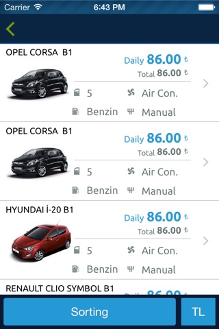 Rent A Car, Araç Kiralama by Tasit.com screenshot 3