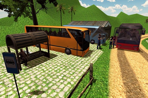 Offroad Tourist Bus Driving Transport Simulator screenshot 4