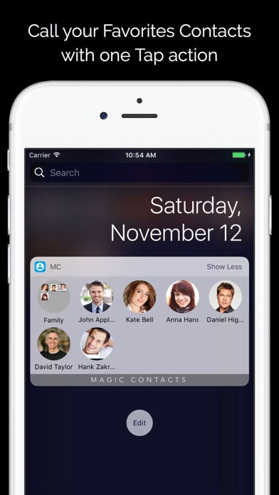 Magic Contacts Pro with Notification Center Widget Screenshot