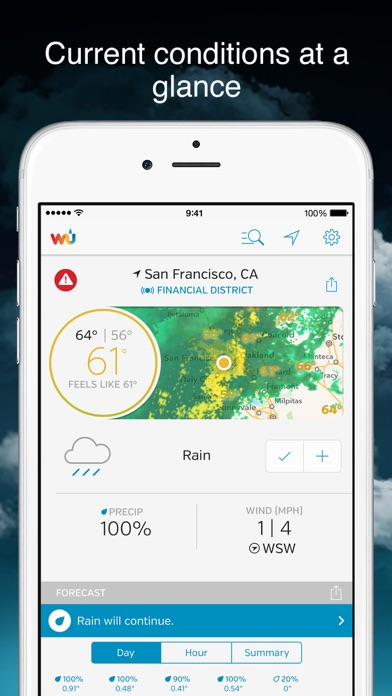 weather underground forecast app report on mobile action. Black Bedroom Furniture Sets. Home Design Ideas
