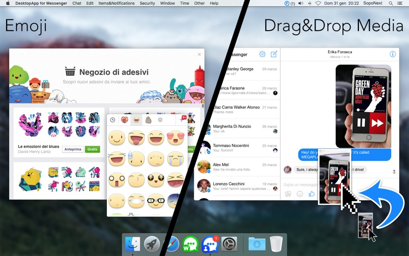 DesktopApp for Messenger Screenshots