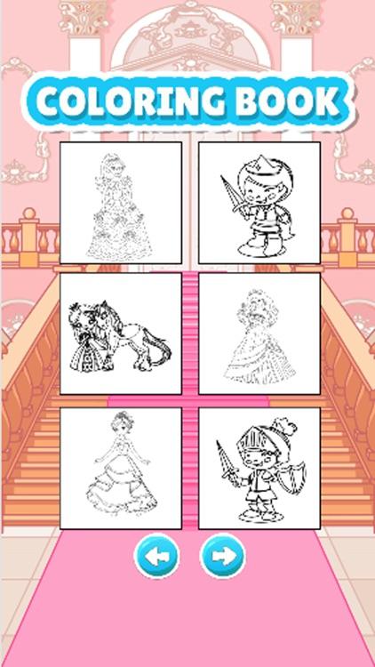 princess coloring book drawpaint games for kid