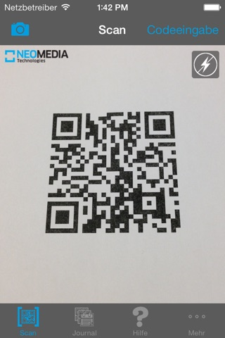 NeoReader®-QR&BarcodeScanner screenshot 1