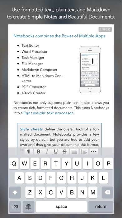Notebooks 8 Screenshot