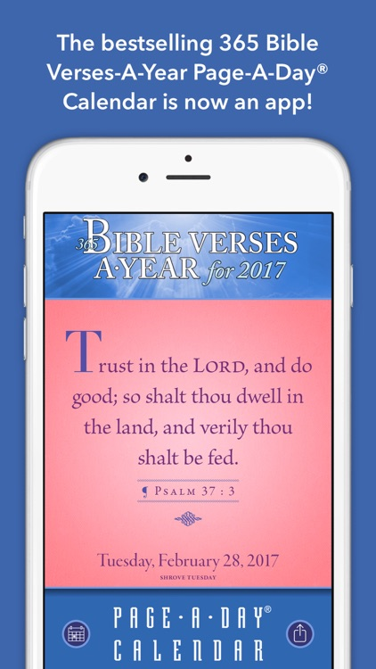 365 bible verses a year page a day calendar 2017 by oceanhouse media