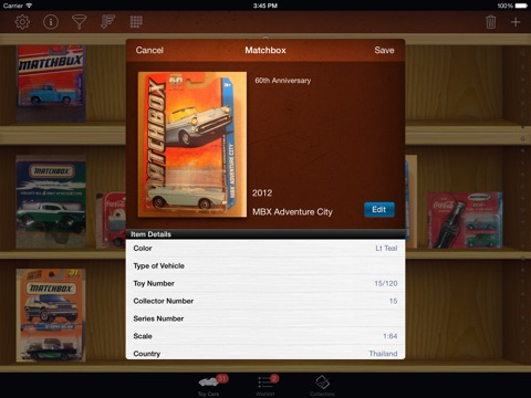 Toy Car Collectors for iPad screenshot 1