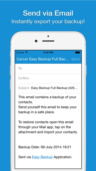 Screenshot #7 for Easy Backup - Contacts Backup Assistant