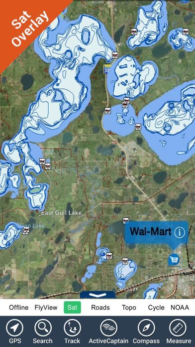 Maine lakes charts gps fishing maps navigator app for Lake chickamauga fishing map