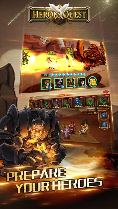 Heroes Quest: Explore Magic Lands & Fight Battles Screenshot