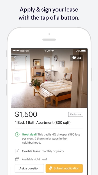 Radpad Apartment Finder Find  List Home Rentals On The App Store