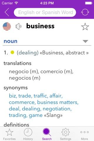 Spanish Business Dictionary screenshot 1