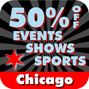 50% Off Chicago Events, Shows and Sports Guide by Wonderiffic ® icon