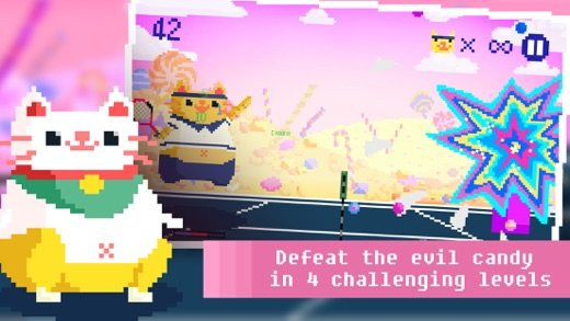 Candy Cat Tennis - Pixel Training Screenshot